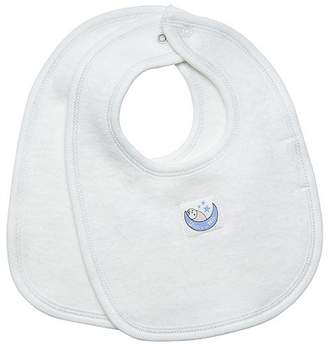 Under the Nile Sherpa Winter White 2-Pack Drool Bibs