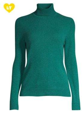 Lord & Taylor Essential Cashmere Turtleneck Sweater
