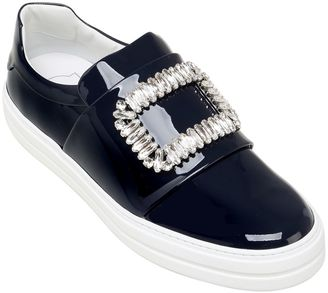25mm Sneaky Viv Patent Leather Sneakers $1,325 thestylecure.com