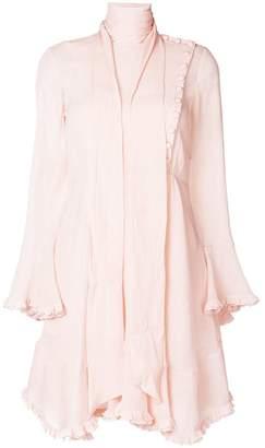 Chloé tied-neck frilled dress