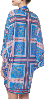 6 Shore Road 7 Mile Printed Tie Coverup Jacket