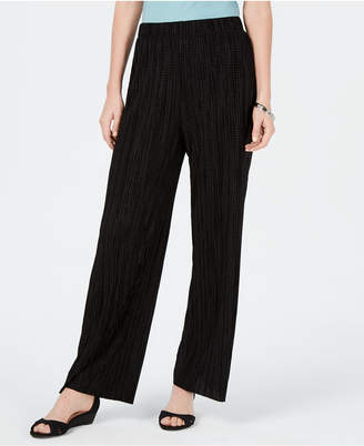 JM Collection Textured Pull-On Pants
