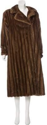 Saint Laurent Mink Duster Coat