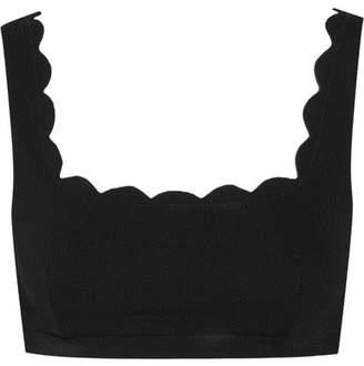 Marysia Swim Palm Springs Scalloped Bikini Top - Black