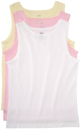 Fruit of the Loom Girls 7-16 Girls 3 Pack Cotton Tank