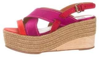 Lanvin Platform Wedge Sandals