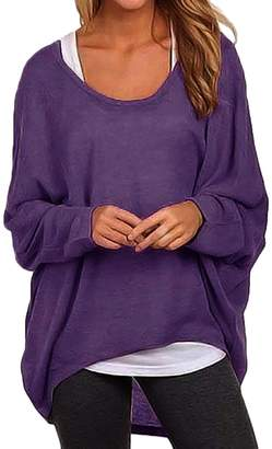 story. Fashion Women's Casual Oversized Long Batwing Sleeve Baggy Shirt Pullover Blouse Tops