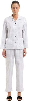 Cotton Poplin Pajama Shirt & Pants