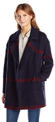 Tommy Hilfiger Women's Double Breased Oversized Wool Coat,XL