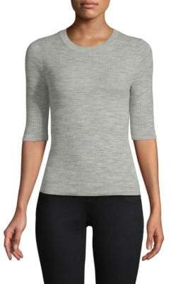 Vince Ribbed-Knit Wool Pullover