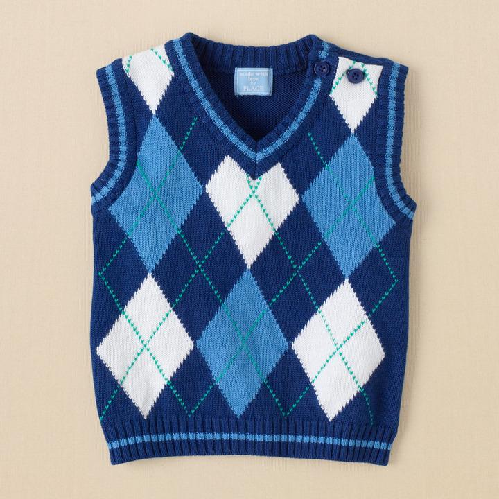 Children's Place Argyle vest