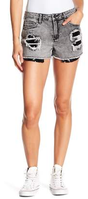 Tractr Sequin Super Destructed Shorts
