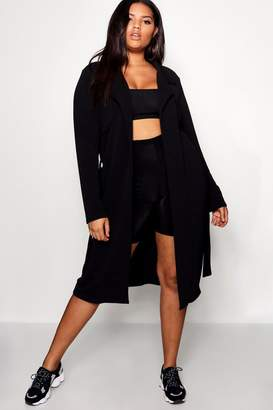 boohoo Plus Trench Duster Jacket