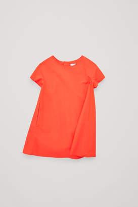 Cos PLEATED COTTON-POPLIN DRESS
