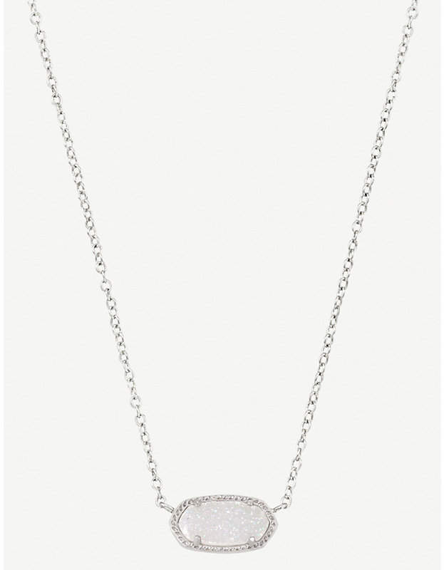 Elisa 14ct gold-plated iridescent drusy necklace