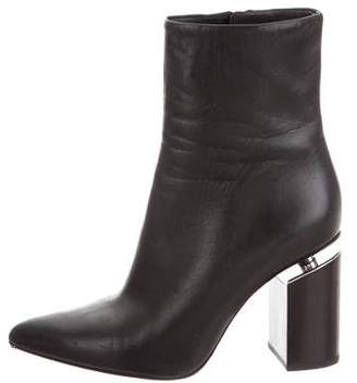 Alexander Wang Leather Pointed-Toe Boots