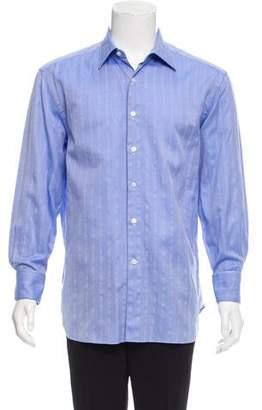 Lanvin Woven French Cuff Shirt