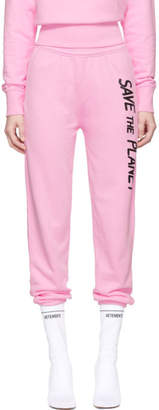 Ashley Williams SSENSE Exclusive Pink Save The Planet Lounge Pants
