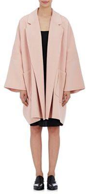 Helmut Lang Women's Brushed Melton Coat-RED $1,195 thestylecure.com