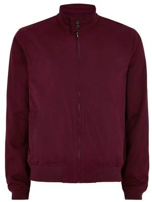 Topman Mens Red Burgundy Harrington Jacket
