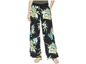 Lauren Ralph Lauren Print Jersey Wide-Leg Pants Women's Casual Pants