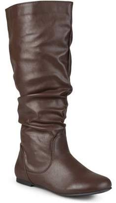 Co Brinley Women's Extra Wide-Calf Mid-Calf Slouch Riding Boots