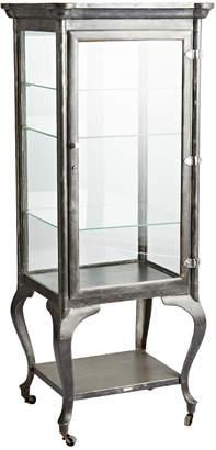 Rejuvenation Tall Steel Medical Cabinet w/ Cast Cabriole Legs