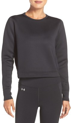 Women's Under Armour 'Luster' Crop Pullover $89.99 thestylecure.com