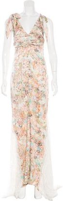 Vera Wang Floral Print Evening Gown $795 thestylecure.com