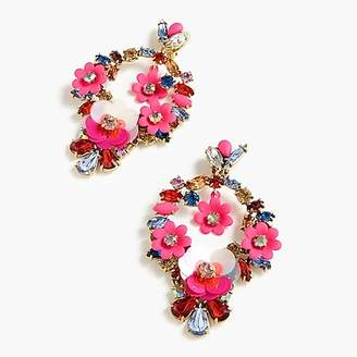 J.Crew Floral clip-on earrings