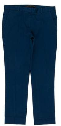 Victoria Beckham Mid-Rise Cropped Pants