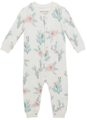 PJ Salvage Cactus Print Sleep Coverall, Size 3-18 Months