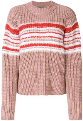 Sportmax ribbed contrast knit jumper