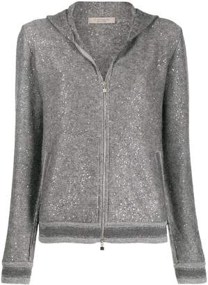 D-Exterior D.Exterior hooded knitted jacket