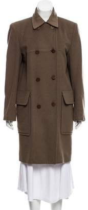 Hermes Double-Breasted Camel Coat
