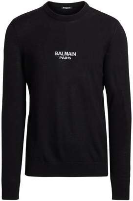 Balmain Logo Virgin Wool Sweater