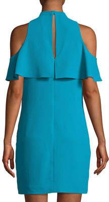 Trina Turk Amado Cold-Shoulder Crepe Cocktail Dress