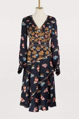 Peter Pilotto Silk V neck dress
