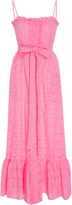Lisa Marie Fernandez M'O Exclusive Ruffled Bodice Button Down Cotton-Lace Maxi Dress $785 thestylecure.com