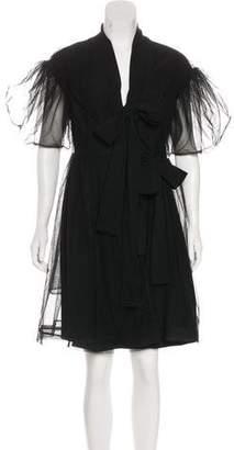Simone Rocha Sheer Wrap Dress