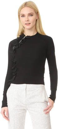 3.1 Phillip Lim Ruffle Sport Pullover with Zippers $450 thestylecure.com