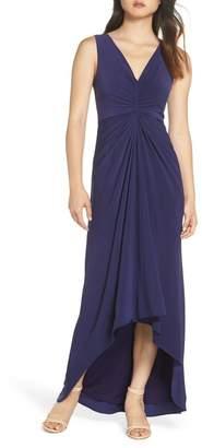 Adrianna Papell Draped Jersey Dress (Regular & Petite)