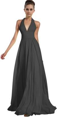 ThaliaDress Chiffon Halter Bridesmaid Dress Prom Gown T76LF US