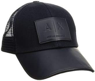 Armani Exchange A|X Men's Logo Patch Trucker Hat