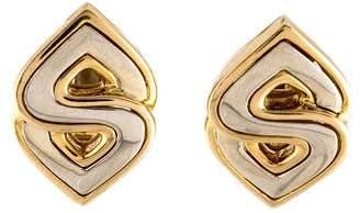 Marina B Two-Tone Stud Earrings
