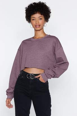 Nasty Gal Sit Back Cropped Sweater