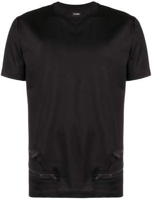 Les Hommes zipper detail T-shirt