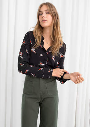 And other stories Floral Print Blouse