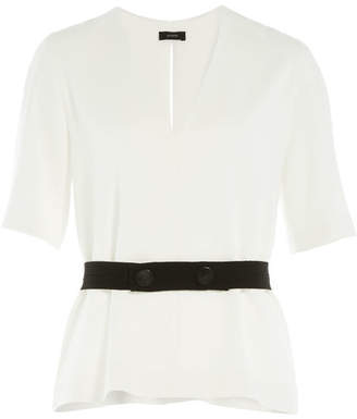Joseph Belted Crepe Top