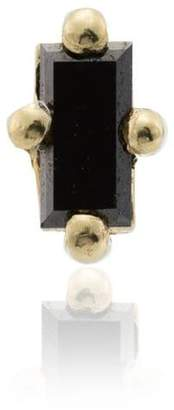Black Diamond Lizzie Mandler Fine Jewelry 18k yellow gold mini stud earring